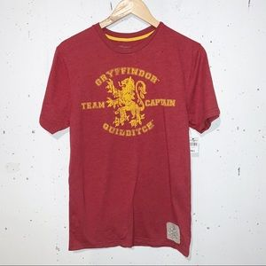 Gryffindor Harry Potter Quidditch Universal Studios Tee T-shirt Men's Size Small